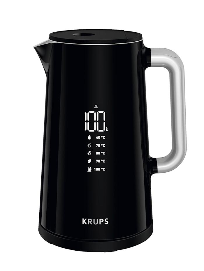 Krups Kabelloser Wasserkocher 'Smart'n Light BW8018', 5 einstellbare Temperaturstufen, Fassungsvermögen 1,7 Liter, Schwarz