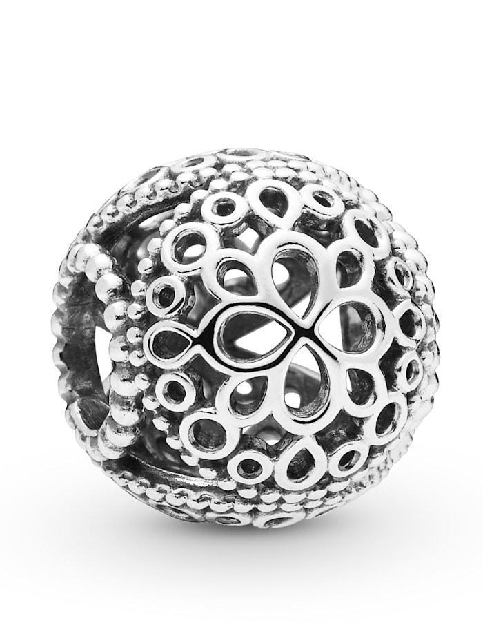 Pandora Charm -Durchbrochene Blume-, Silberfarben