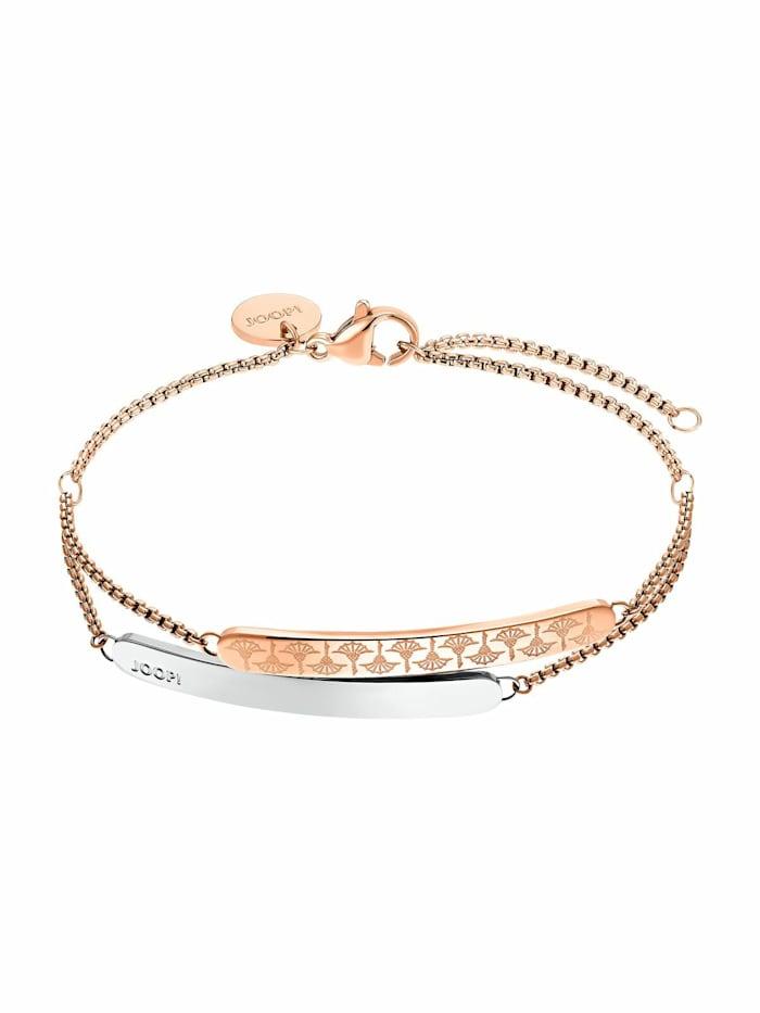 JOOP! Armband für Damen, Edelstahl IP Rose bicolor, Bicolor