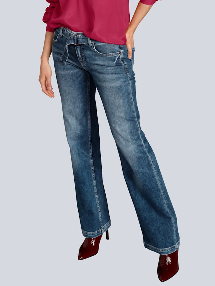 CAMBIO Jeans in modischer Form, Blue stone