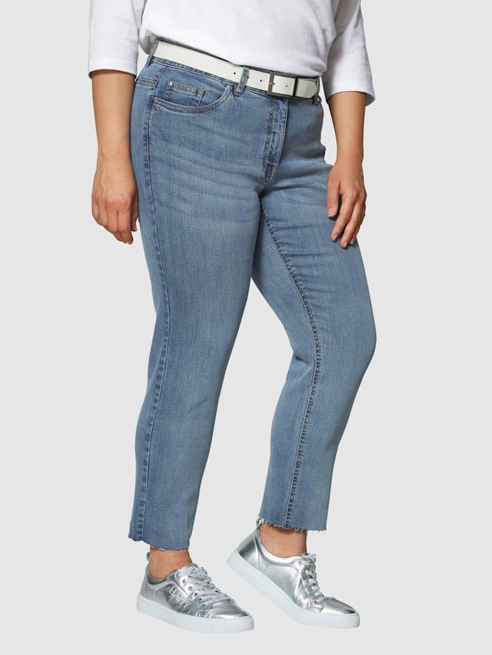 Angel of Style Jeans – fransiga nedtill, Blå