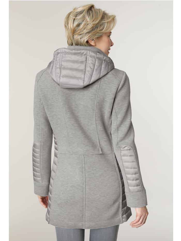 Longline jacket with a detachable hood
