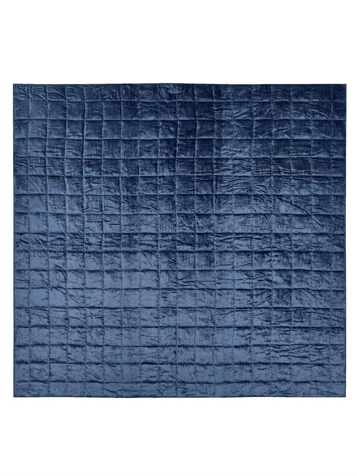 IMPRESSIONEN living Bettüberwurf, blau