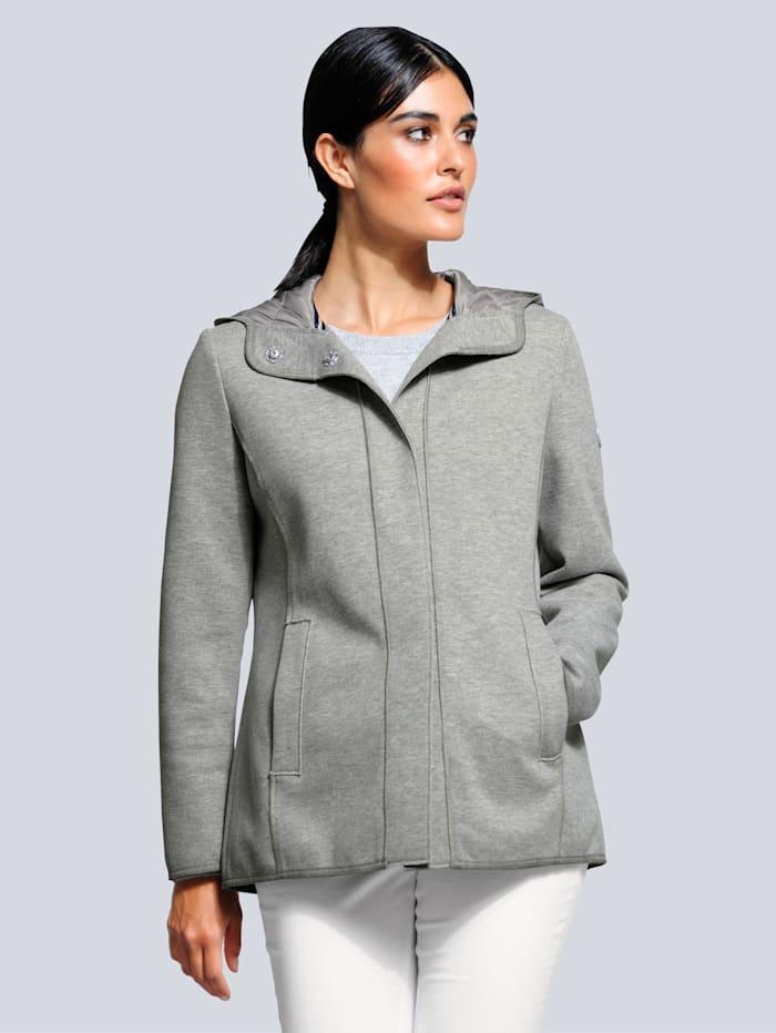 Alba Moda Jacke mit Kapuze, Grau
