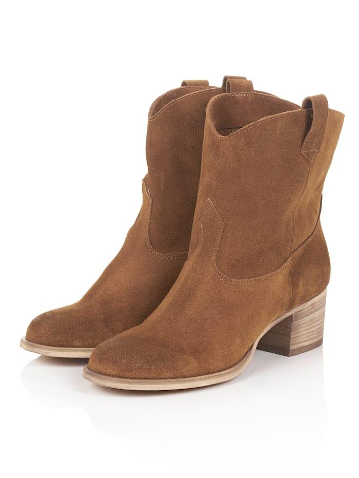 SIENNA Cowboy Boot, Braun