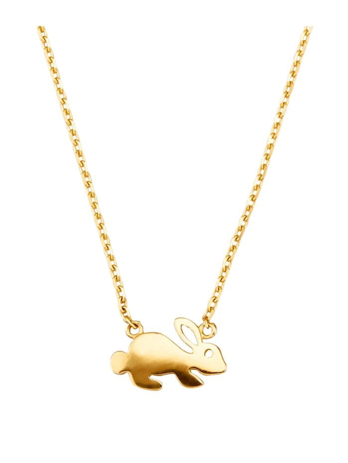 Collier Lapin en or jaune 375, Coloris or jaune