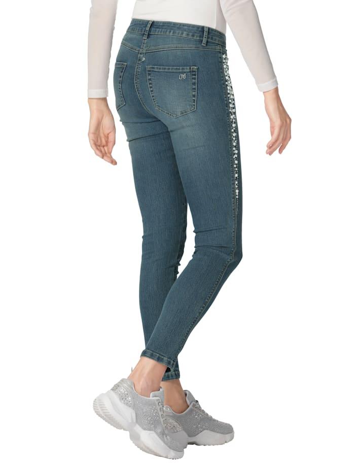 Jeans met kraaltjes en strassteentjes