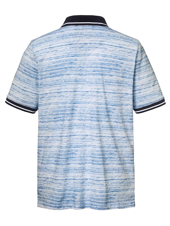 Poloshirt met fijne strepen
