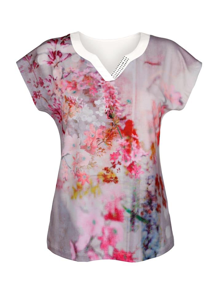 Paola Shirt met strassteentjes, Roze/Taupe