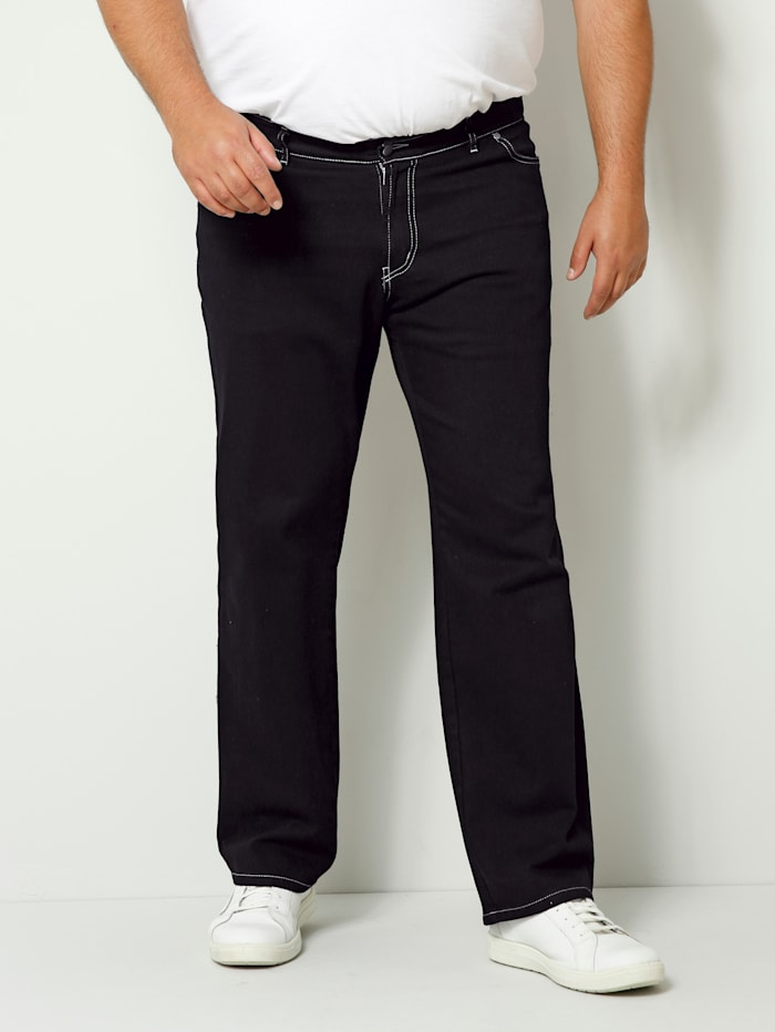 Men Plus Jeans Spezialschnitt, Black