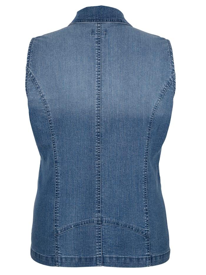 Jeansgilet met klinknageltjes