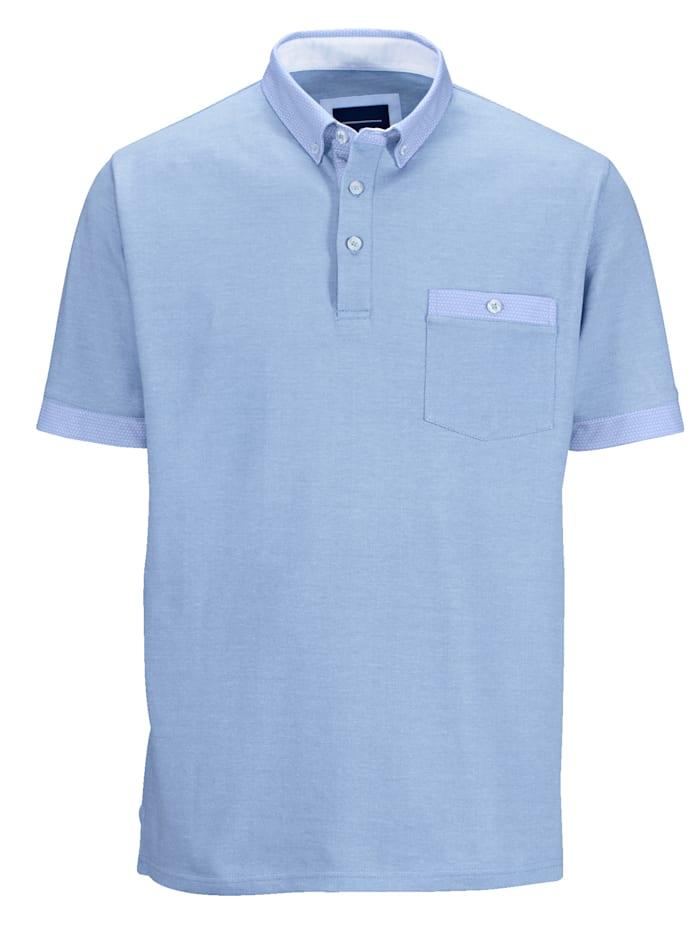 BABISTA Poloshirt in zweifarbiger Optik, Blau
