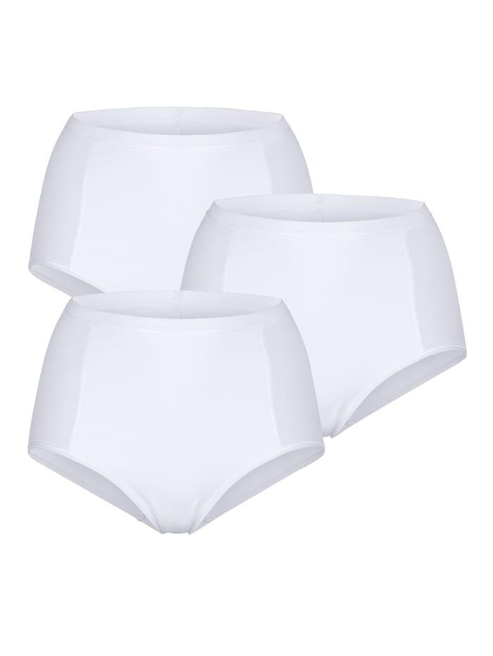 Viania Taillenslips im 3er-Pack mit Bauchweg-Funktion, Weiß