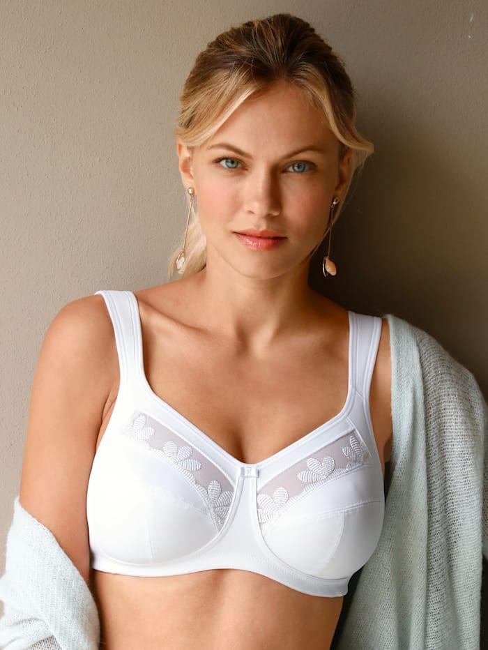 Anita Soutien-gorge à biais confortables sur les côtés, Blanc