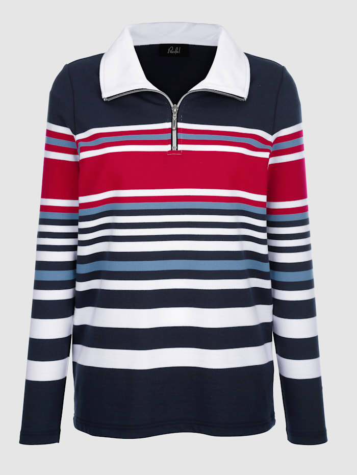 Sweatshirt in schöner Streifenoptik