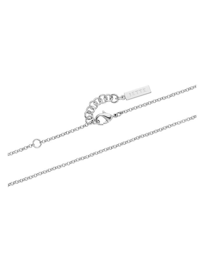 JETTE Silver Damen-Kette 925er Silber 34 Kristall
