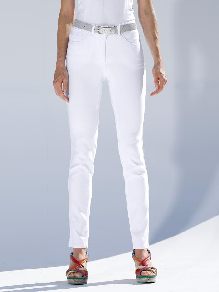 AMY VERMONT Džíny v elastické kvalitě, Bílá