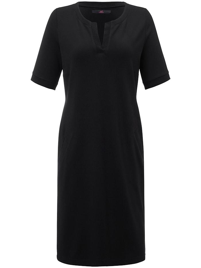 Emilia Lay Jersey-Kleid mit 1/2 Ärmel, schwarz