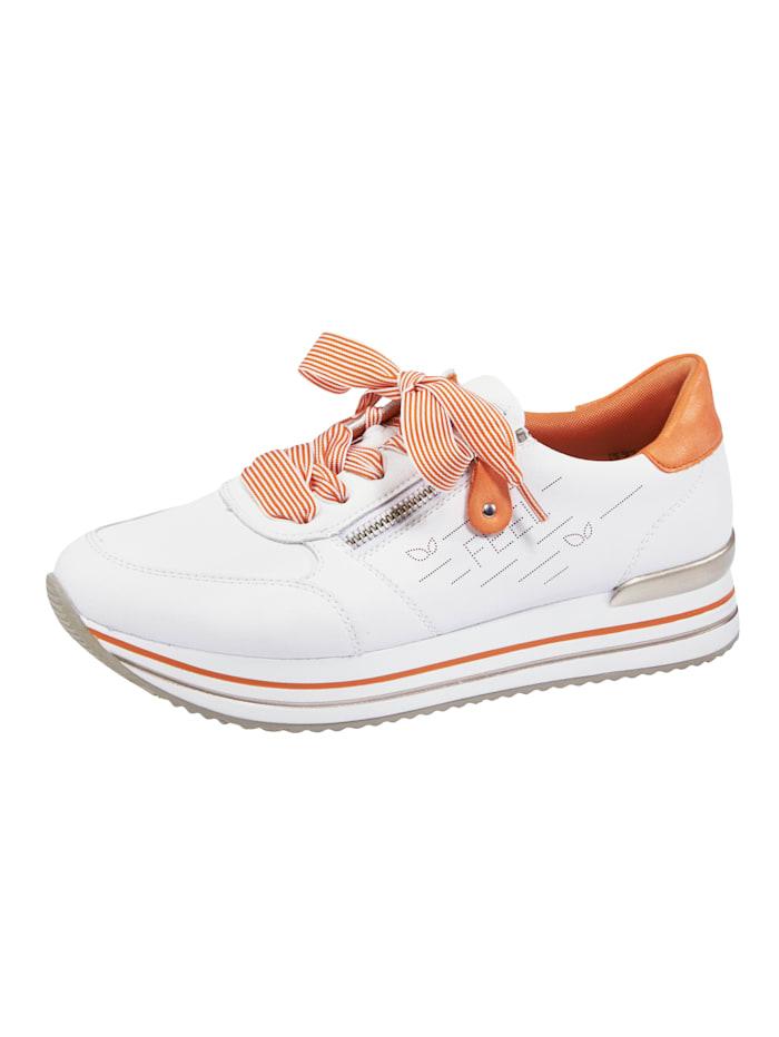 Remonte Sneaker met zacht gepolsterde rand en tong, Wit
