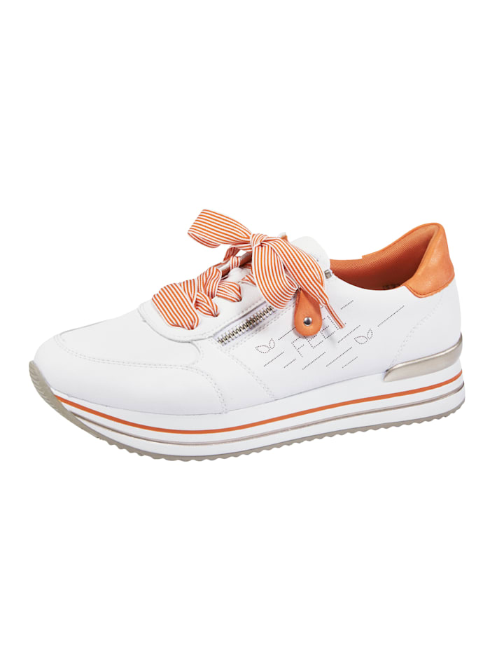 Remonte Sneakers à plateau à languette et tour de tige rembourrés, Blanc
