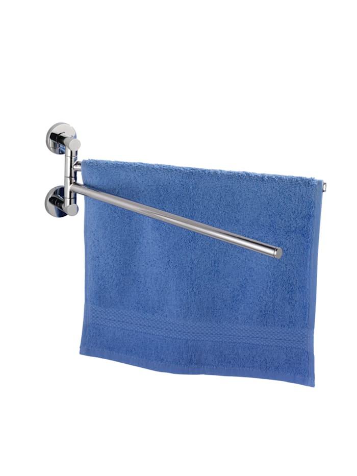 Wenko Power-Loc® Handtuchhalter mit 2 Armen Elegance, Befestigen ohne bohren, Chrom