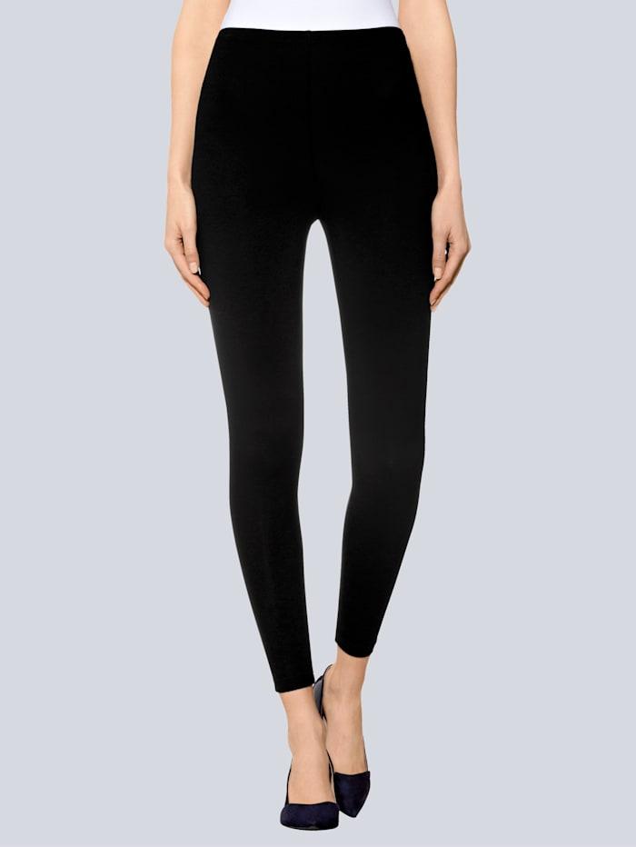 Alba Moda Legging à taille extensible, Noir