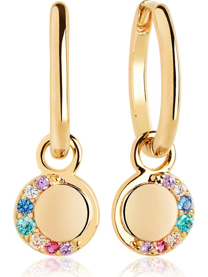 Sif Jakobs Sif Jakobs Jewellery Damen-Ohrhänger 925er Silber Zirkonia, Gelbgold/Mehrfarbig