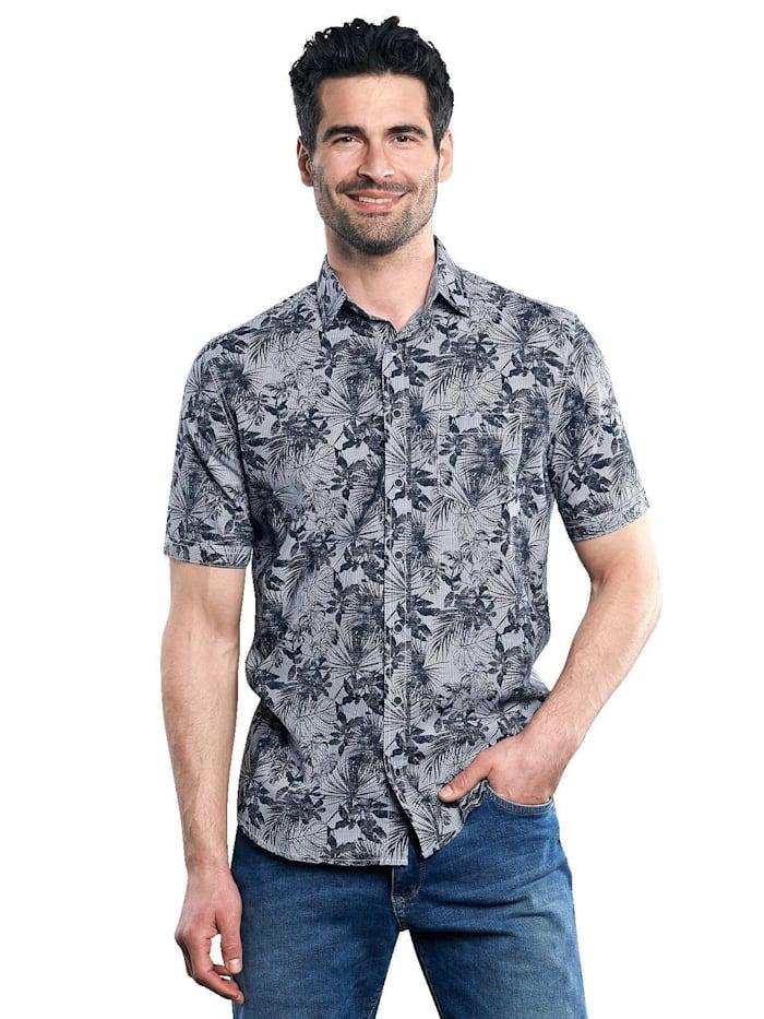 Engbers Hemd mit floralem Print, Saphirblau