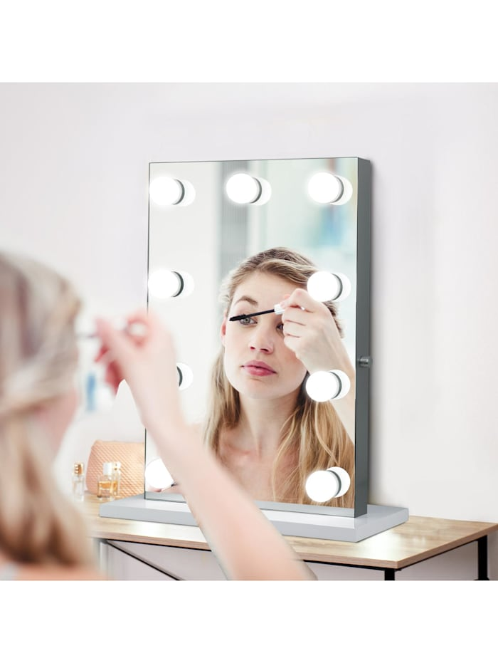 Kosmetikspiegel auf freistehendem Sockel