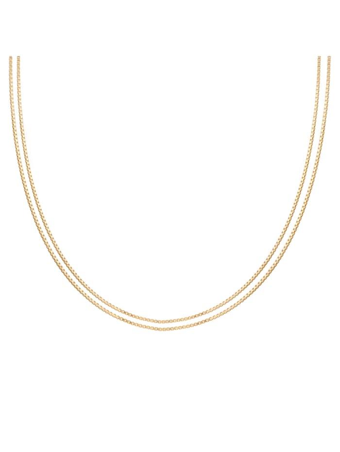 CAI Collier 925/- Sterling Silber ohne Stein 45cm Glänzend, gelb