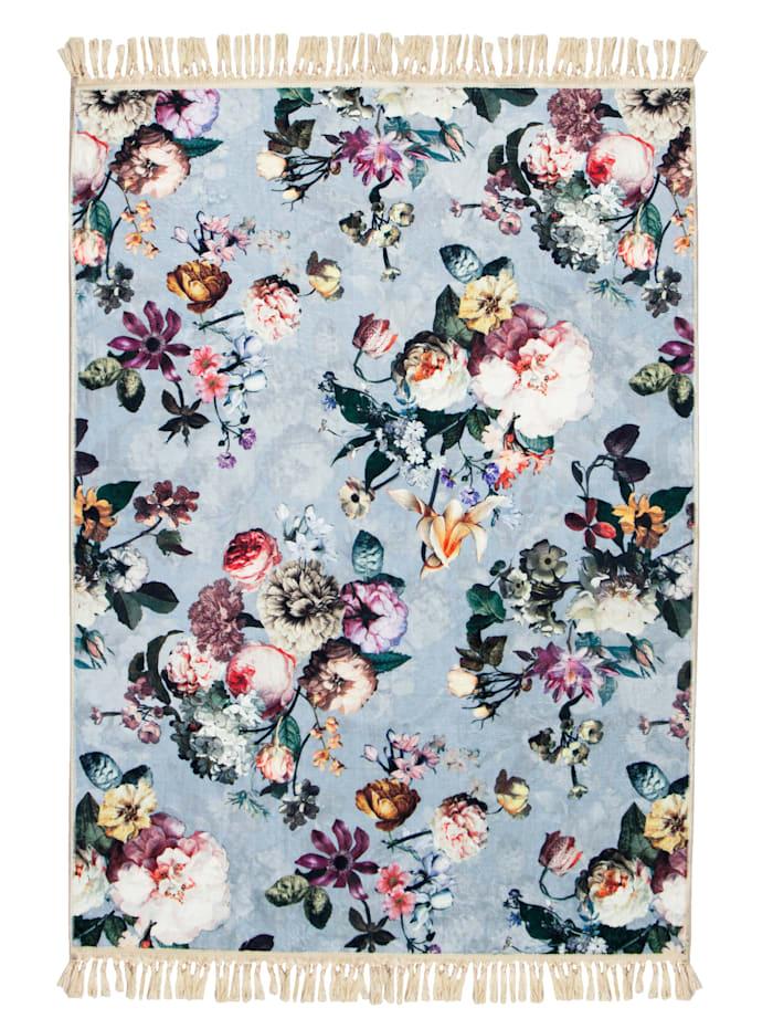 Essenza Vloerkleed Fleur, Blauw