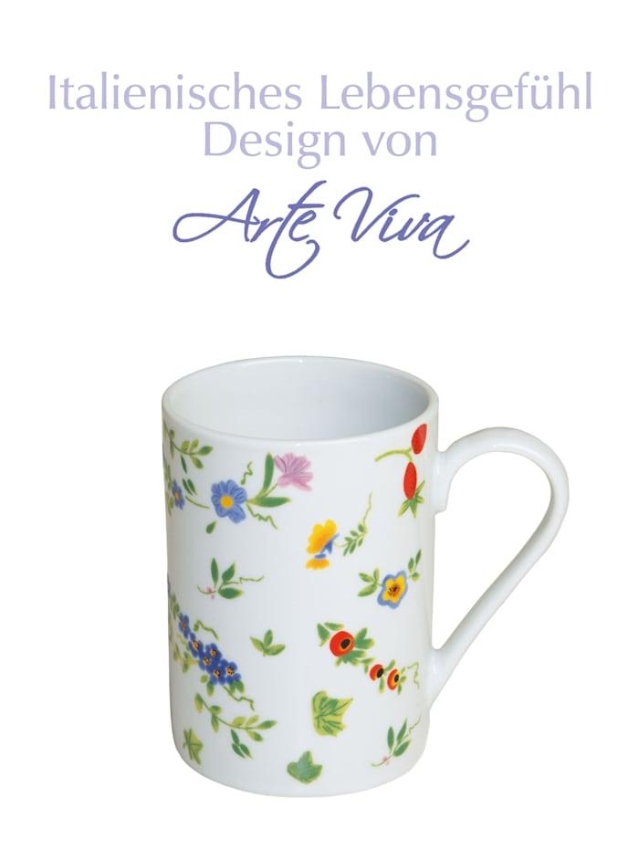 """Arte Viva Lot de 6 tasses à café """"Millefiori"""", Multicolore"""