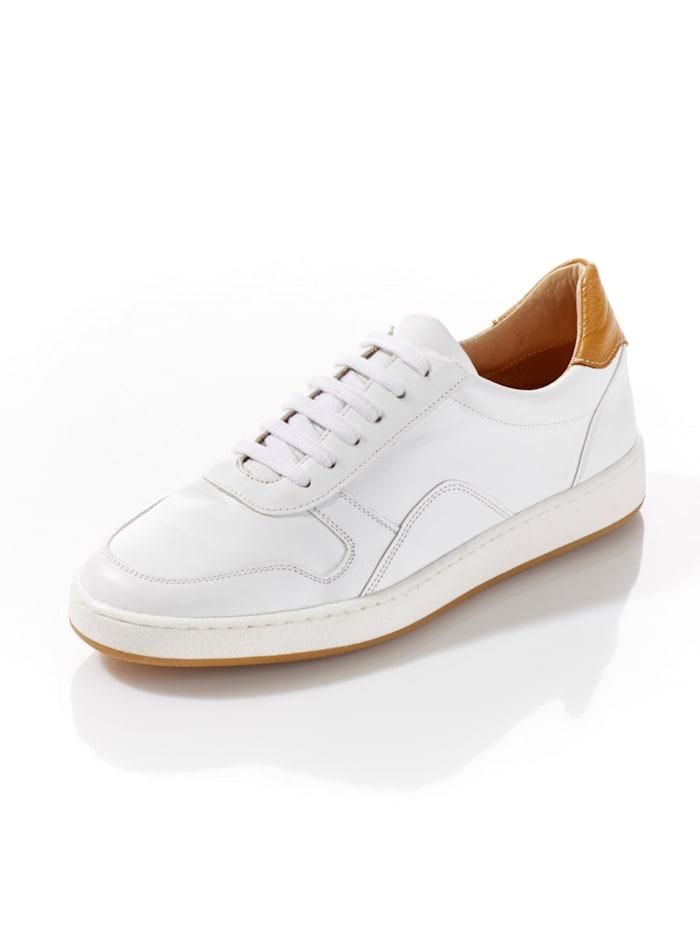 Alba Moda Court-Sneaker, Weiß/Cognac