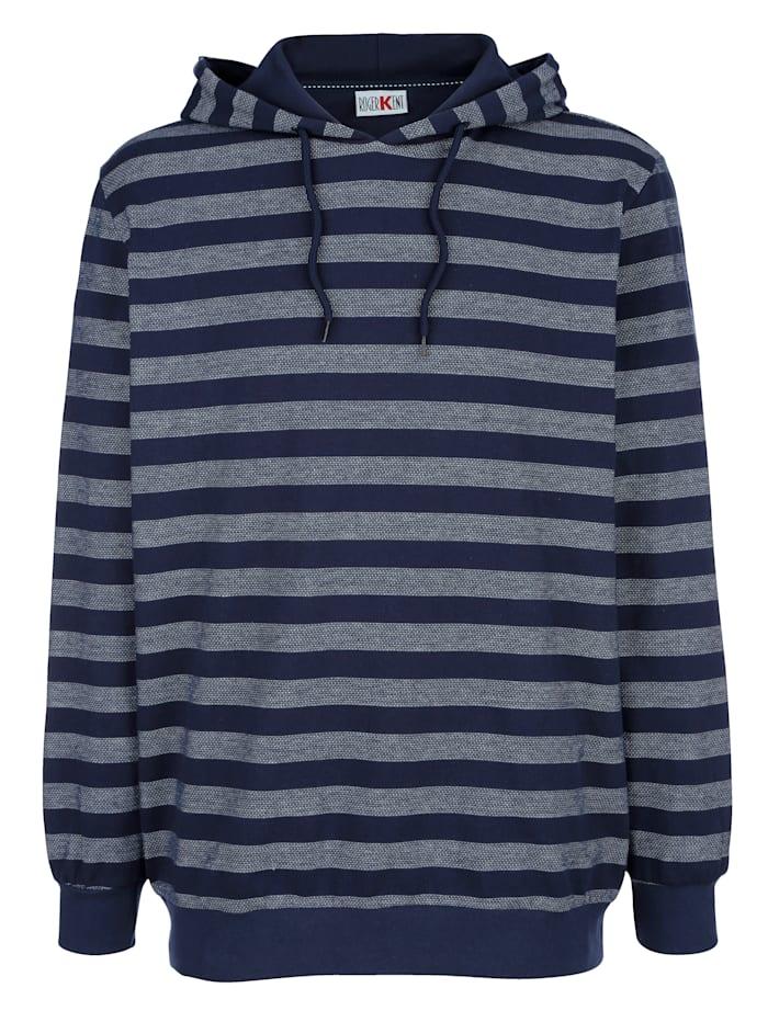 Roger Kent Sweatshirt mit Kapuze, Marineblau