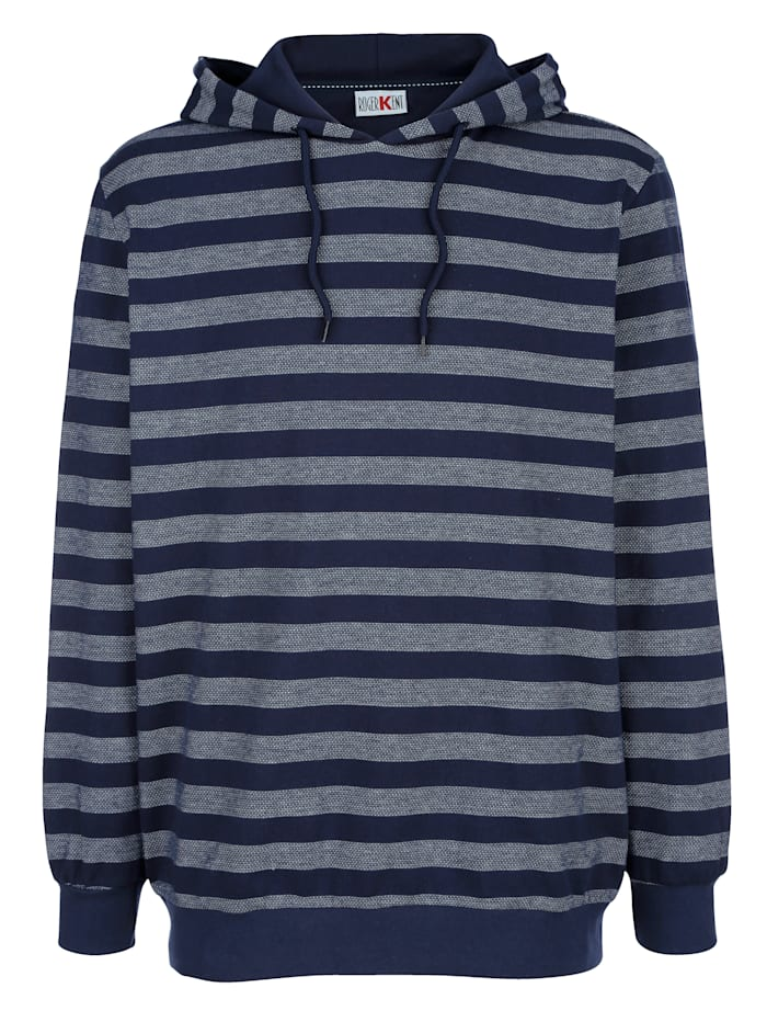 Roger Kent Sweatshirt med huva, Marinblå