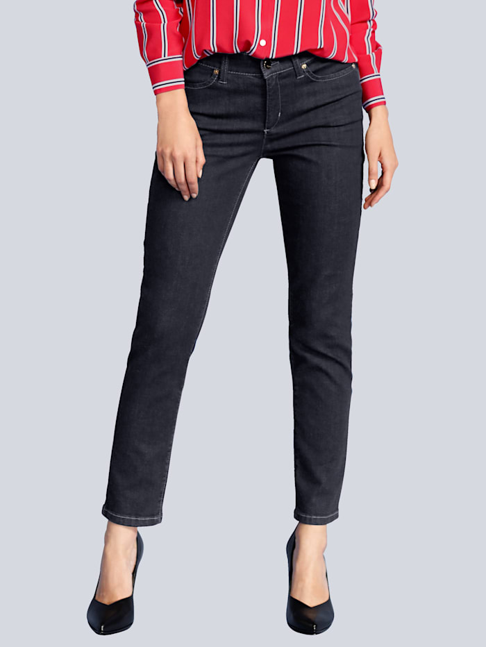 Jeans mit Reißverschluss am hinteren Hosenbein