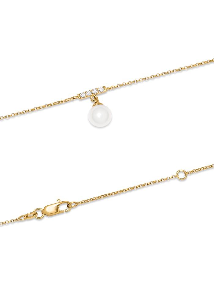 CHRIST Pearls Damen-Kette 375er Gelbgold Süßwasser