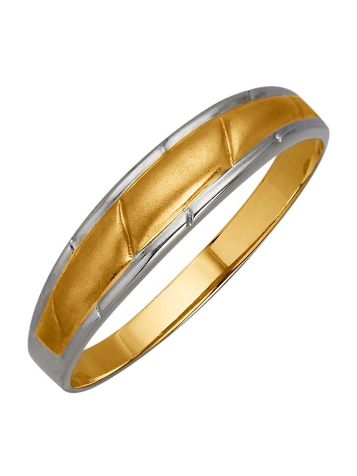 Naisten kaksivärinen sormus, Keltakullanvärinen