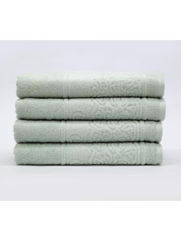 Döhler Handtuch Retro 4-teilig, grün