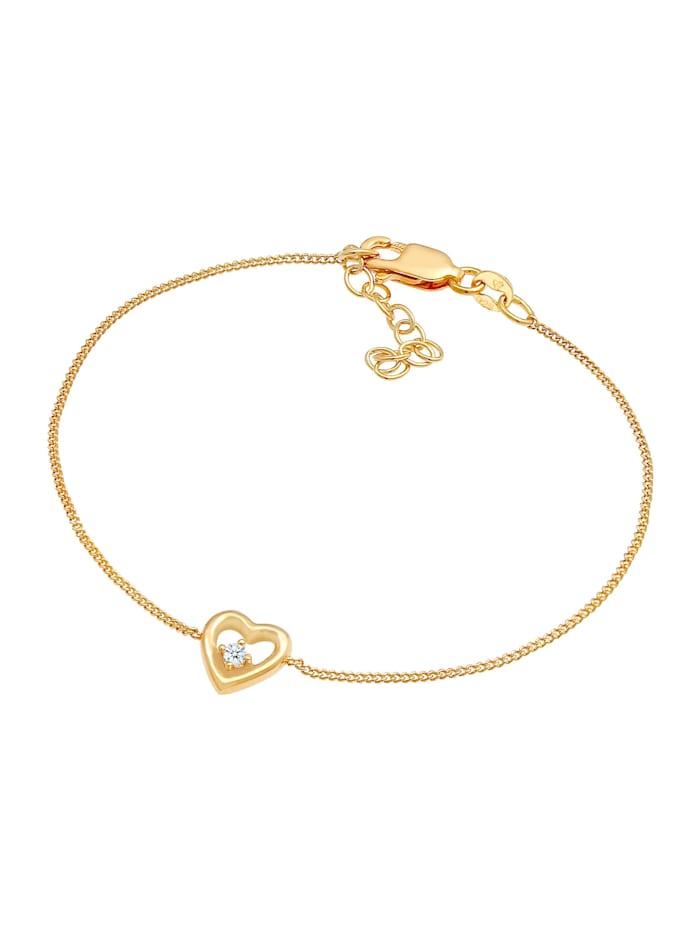 Armband Herz Liebe Romantik Diamant (0.03 Ct) 925 Silber
