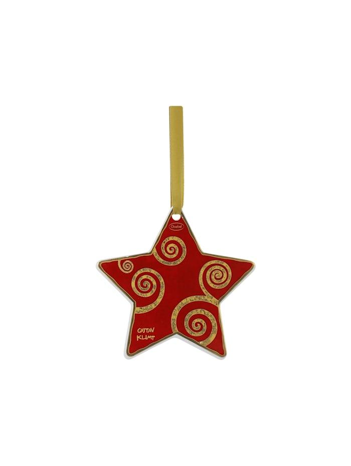Goebel Hängeornament Gustav Klimt - Der Lebensbaum weiß-rot