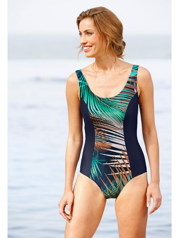 Badeanzug mit trendigem Druckeinsatz