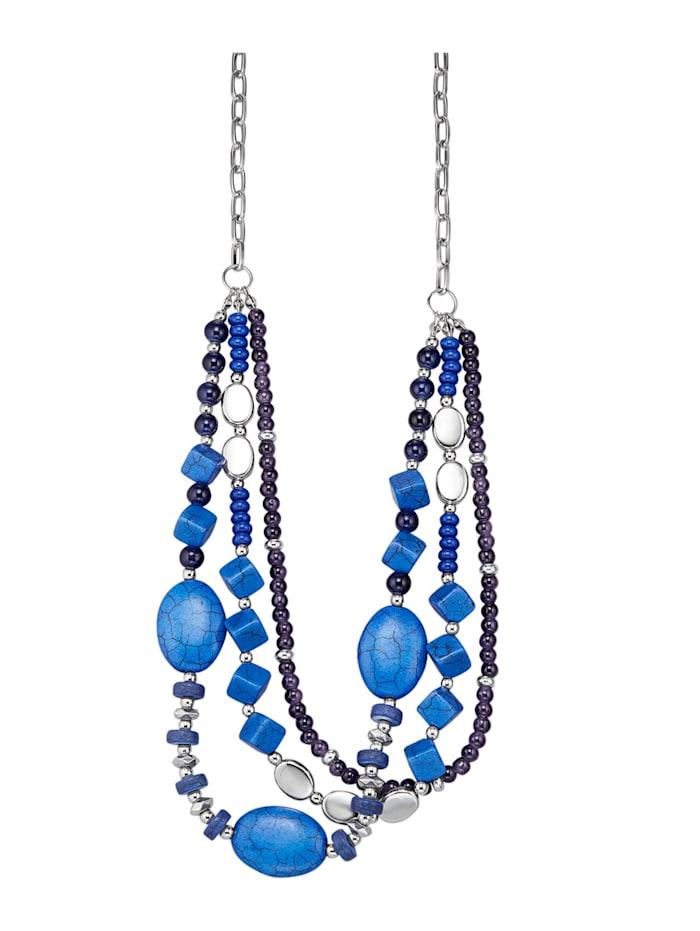 Collier mit blauen Elementen, Blau