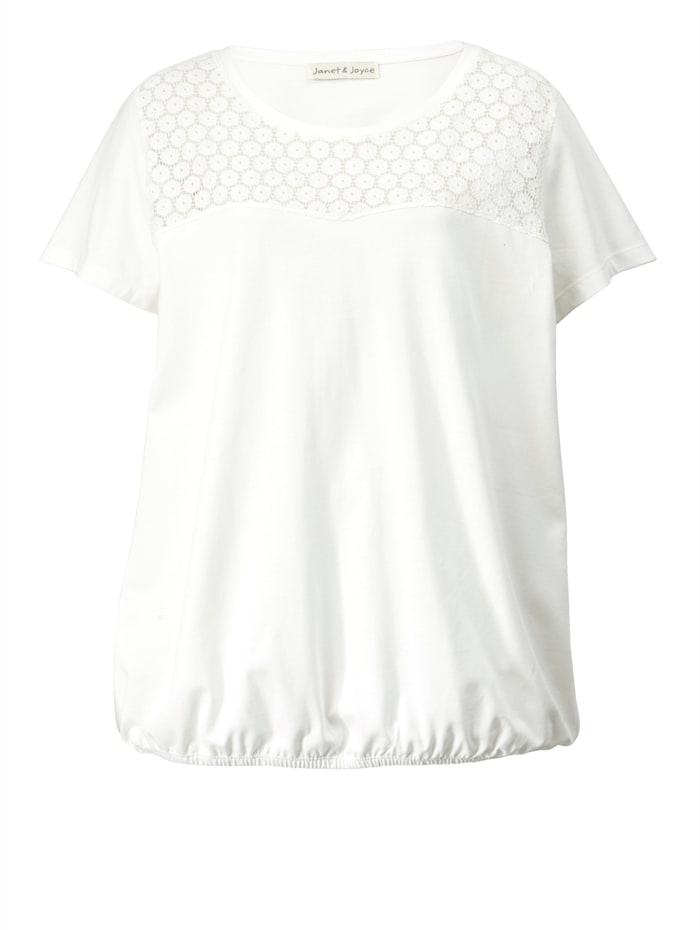 Shirt mit Spitzen-Einsatz