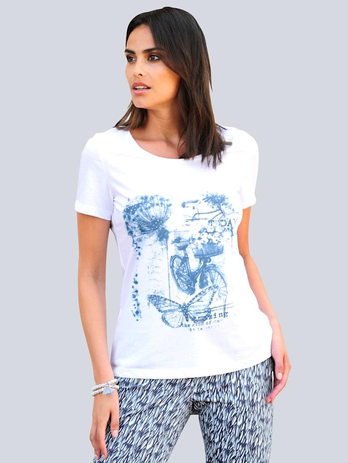 Alba Moda Shirt mit Motivprint, Weiß/Blau