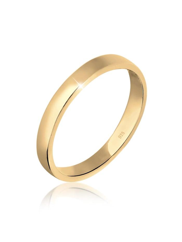 Elli Ring Basic Bandring Trend 925 Sterling Silber, Gold