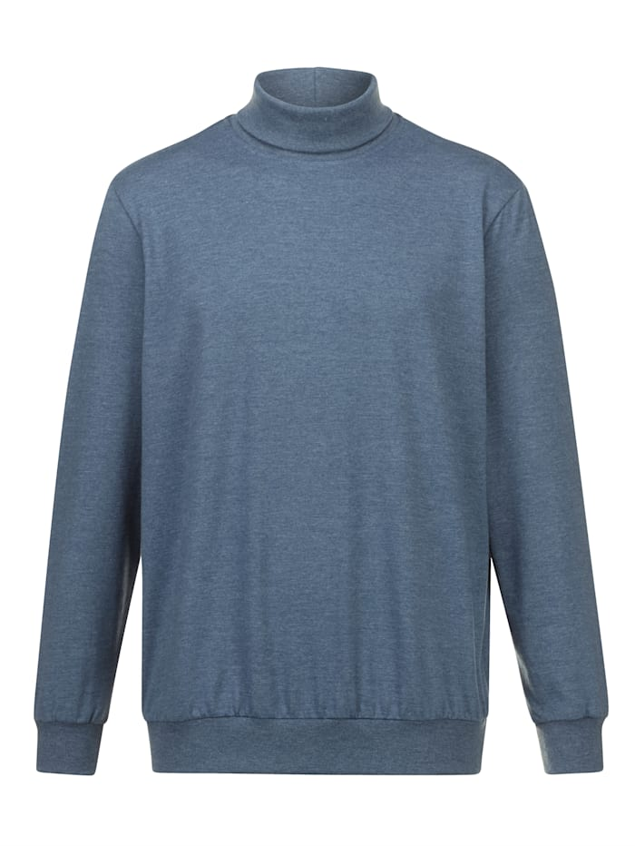 BABISTA T-shirt à col roulé En single jersey, matière douce à la peau, Bleu