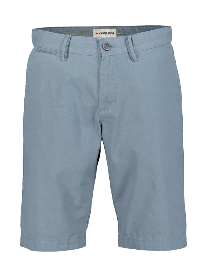 Redpoint gemusterte Chino Bermuda Surray, dusty blue