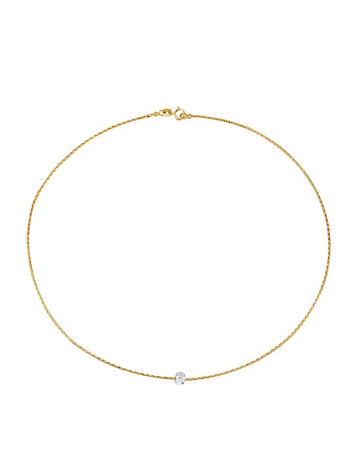 Omegakette in Gelb- und Weißgold 585, Gelbgoldfarben