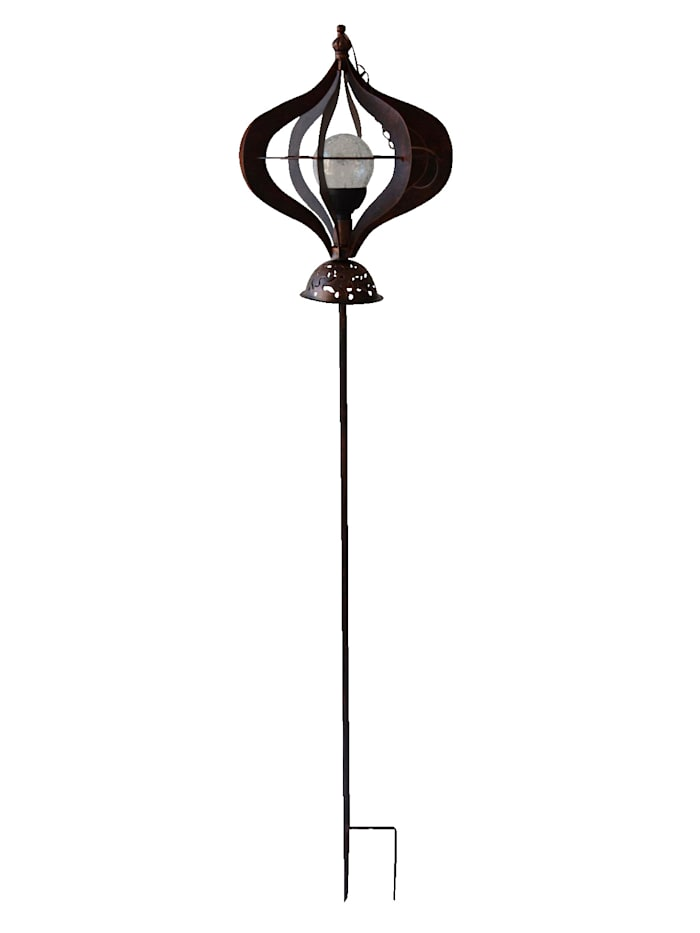 Harms Windspiel mit Solarbeleuchtung, Bronze